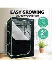 Grow Tent Greenfingers Hydroponic Light-Proof Durable Mylar Grow Room with Observation Windows Access Zippered Door Water-Proof Floor Tray for Plants Vegetables Indoor Growing