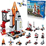 Space Exploration Shuttle Toys for 6 7 8 9 10 11 12 Year Old Boys 13-in-1 STEM Aerospace Building Kit Toy with Heavy Transpor