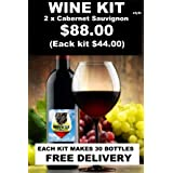 2 x Cabernet Sauvignon style extraction- Each kit makes 23L of wine
