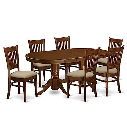 Amazon Com East West Furniture Vanc7 Esp C 7 Piece Dining Table Set