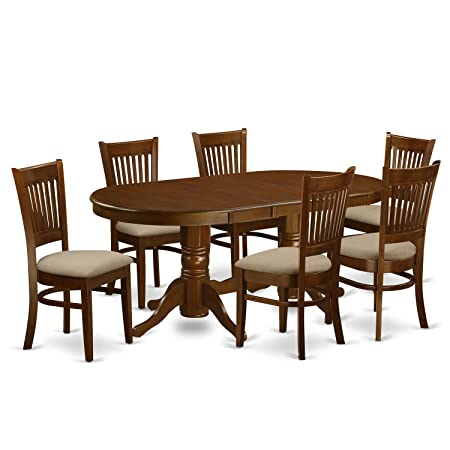 East West Furniture VANC7-ESP-C 7-Piece Dining Table Set