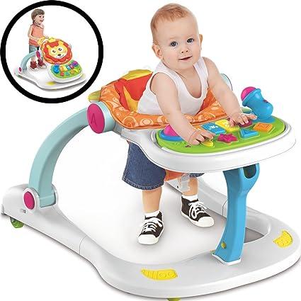 7bdfadfa6 4 en 1 bebé Andador Centro de juegos Baby Walker: Amazon.es: Bebé