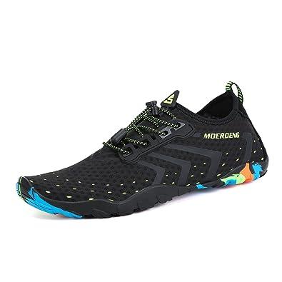 MOERDENG Men Women Water Shoes Quick Dry Barefoot Aqua Socks Swim Shoes for  Pool Beach Walking 51f537b4dc6