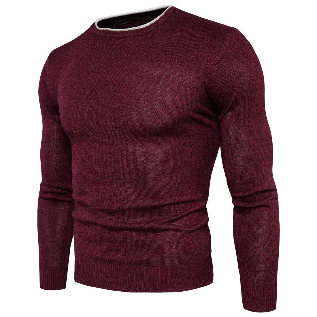 HY-Sweater Herren Pullover Herbst und Winter warm mit runder Kragen lässig Sau Absicherung B077RJD7KT Westen Nicht so teuer