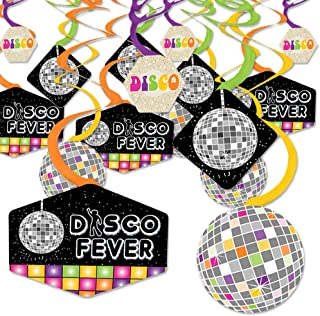 product image for 70's Disco - 1970s Disco Fever Party Hanging Decor - Party Decoration Swirls - Set of 40