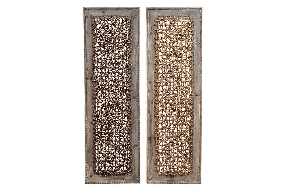 Deco 79 Wood Portable Wall Décor, 2 Assorted