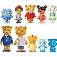 Daniel Tiger's Neighborhood Friends & Family Figure Set (10 Pack) Includes: Daniel, Friends, Dad & Mom Tiger, Tigey…