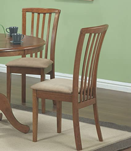 Coaster Home Furnishings Dining Chair in Oak - Set of 2 & Amazon.com - Coaster Home Furnishings Dining Chair in Oak - Set of 2 ...