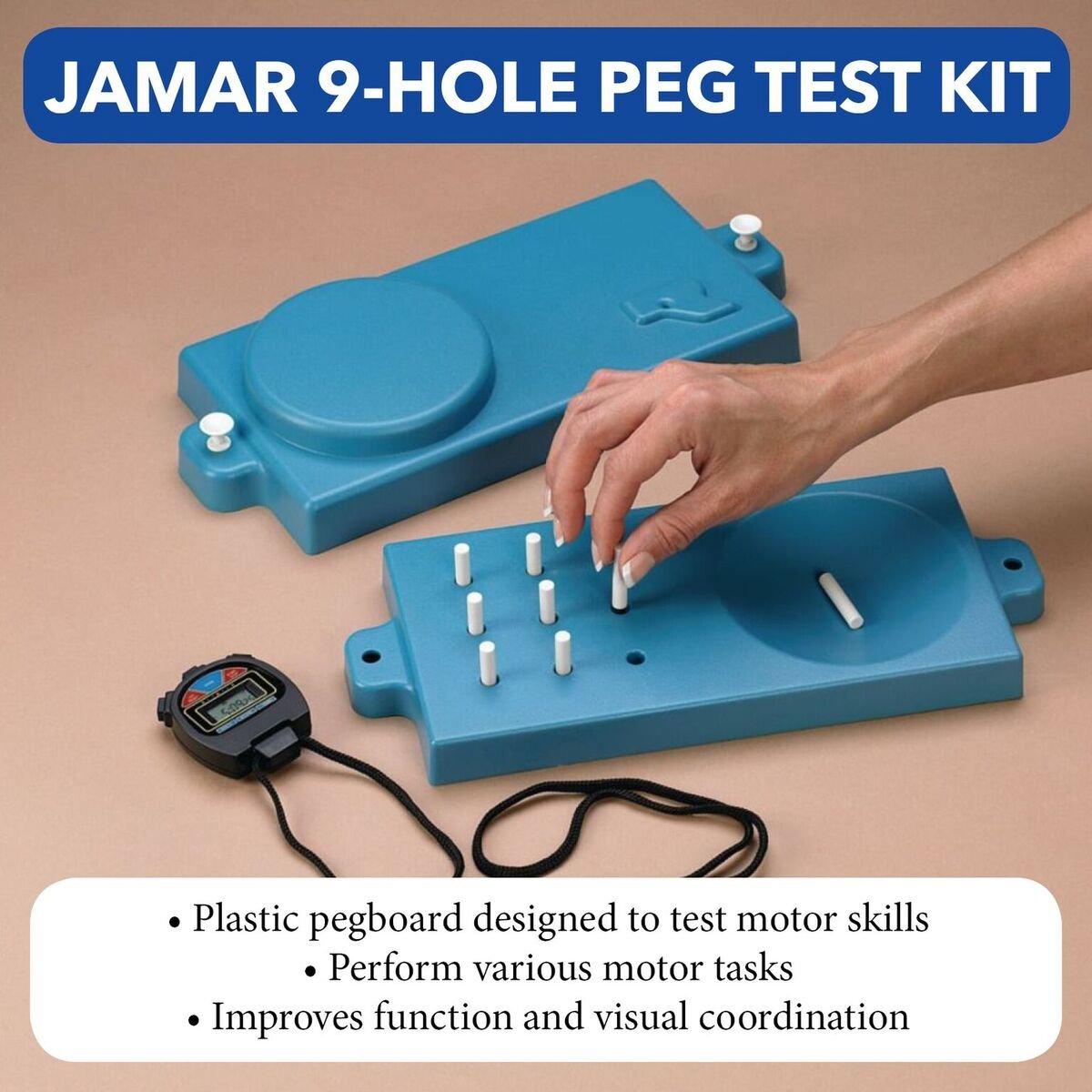 Amazon.com: Jamar 9-Hole Peg Test Kit, Pegboard Set & Stopwatch ...