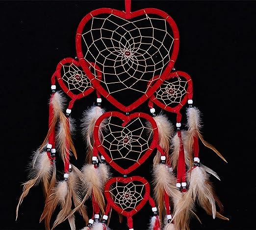 Ailiebhaus Atrapasueños Indio Forma Corazón Atrapasueños