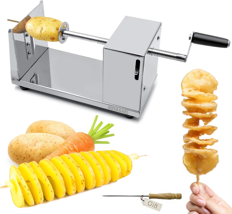Potato Twister Tornado Slicer Manual Cutter Spiral Chips Kitchen Cooking Tool*se