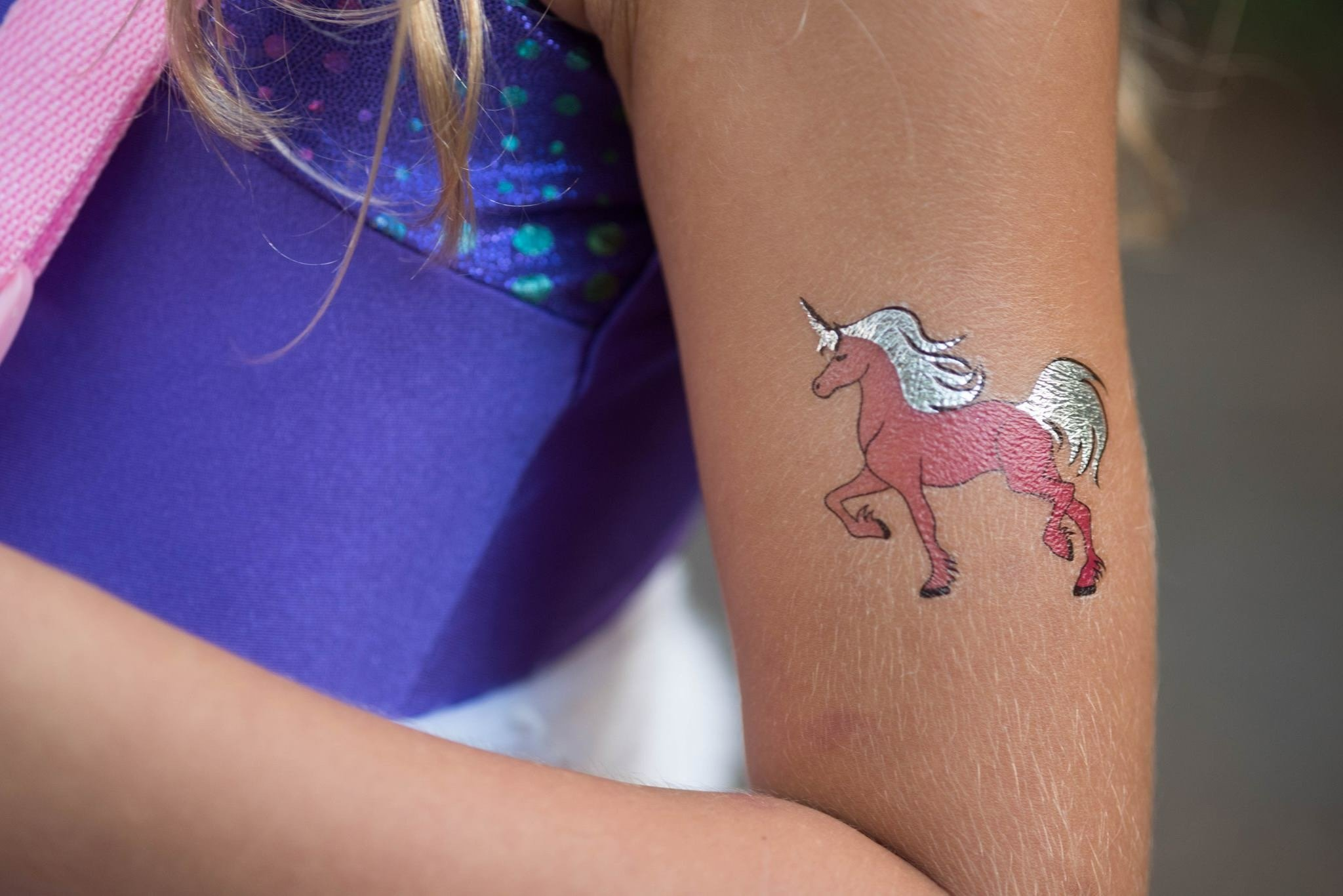 Unicorn Temporary Tattoos for Girls Best for Unicorn Party Supplies Party Favors and Unicorn Birthdays Beautiful Metallic Unicorn and Pegasus Tattoos By John & Judy 7