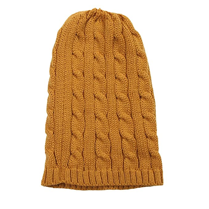1453eb0e34b JEME Unisex Cable Knit Beanie Chunky Twist Cable Knitted Winter Hat ...