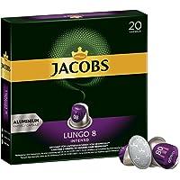 Jacobs Kapseln Lungo Intenso - Intensität 8 - 200 Nespresso (R)* kompatible Kaffeekapseln aus Aluminium (10 x 20 Kapseln)