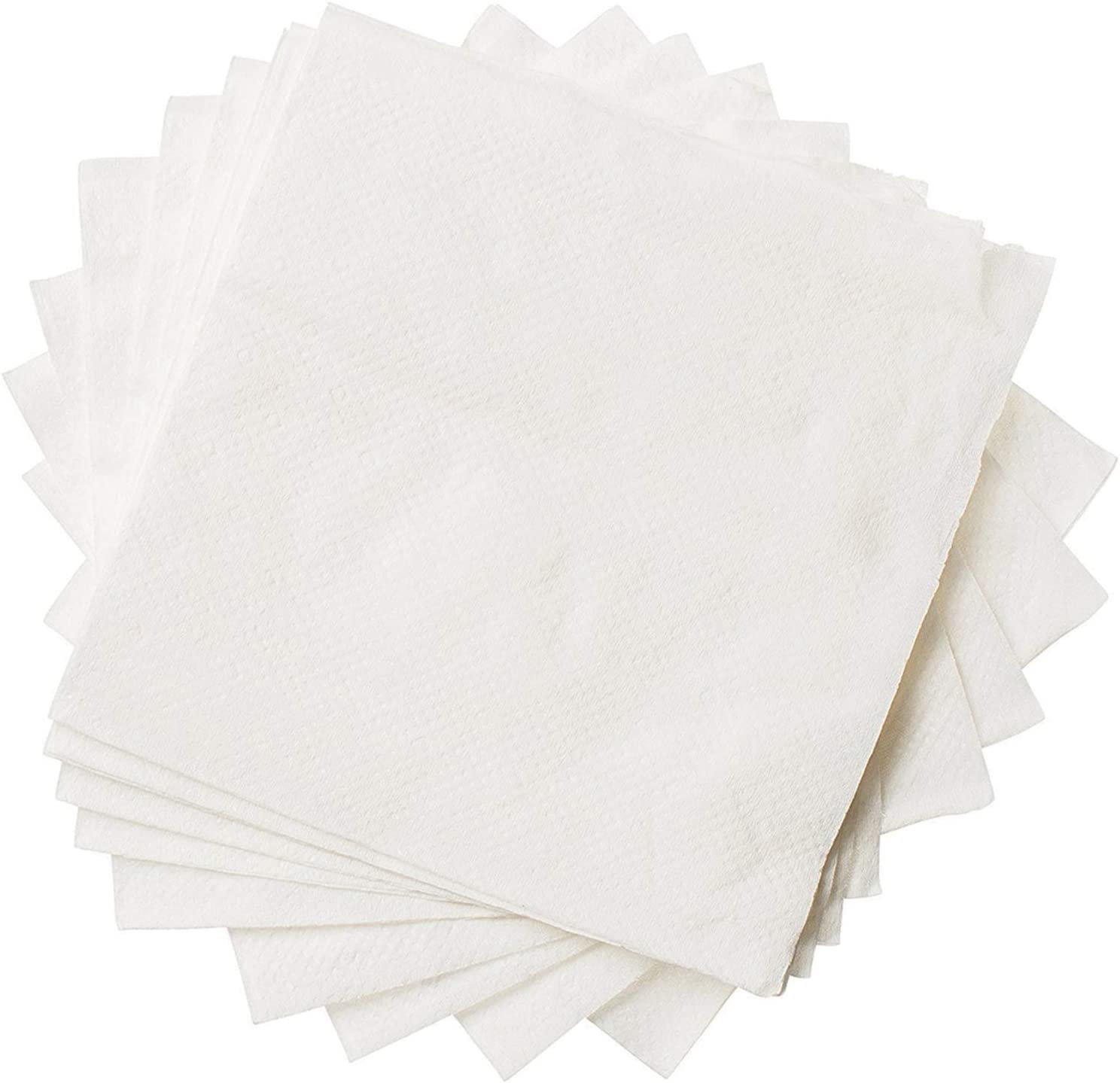 [500 Pack], White Beverage Napkins 1-Ply Bulk Cocktail Napkins, Restaurant Bar Paper Napkins…