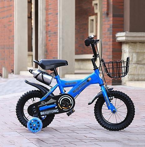 Bicicleta para niños Sheng 3-10 años de Edad, Carro de bebé, niña, niño, 12-14 Pulgadas, Bicicleta, Azul: Amazon.es: Deportes y aire libre
