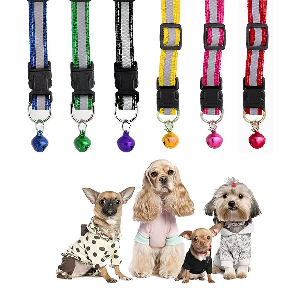 Pets Empire Reflective Safe Pets Collar with Bells Adjustable Length (Medium) (B06Y4RM9DT) Amazon Price History, Amazon Price Tracker