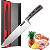 Aocome 8 Inch Pro Chef's Knife-High Carbon German Steel Cook's Knife with Ergonomic Handle Professional Chef Knife(German Steel)