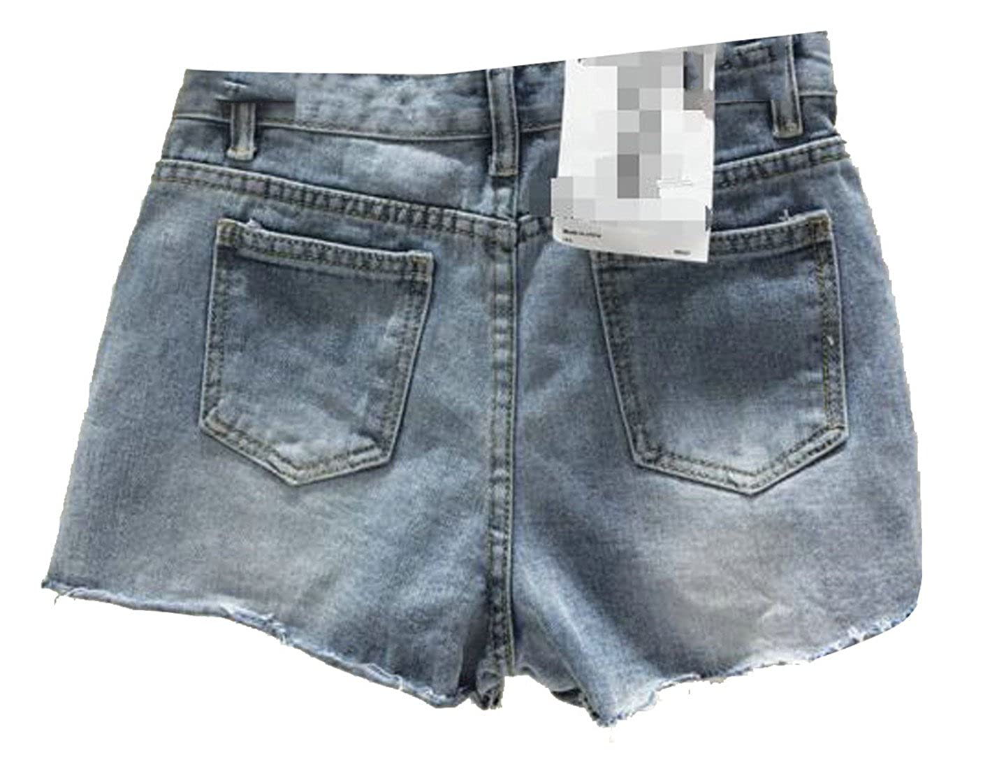 CMC Womens High Waist Cut Off Embroideried Faded Washed Hot Denim Shorts