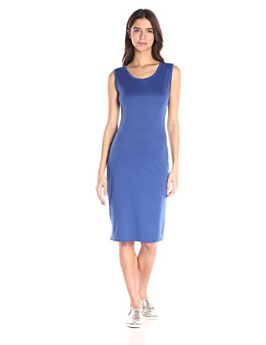 Star Vixen Women's Sleeveless Classic Slim Fit Midi Sheath Dress
