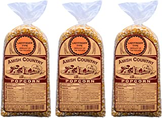 product image for Amish Country Popcorn | 3 - 1 lb Bags | Ladyfinger Popcorn Kernels | Old Fashioned with Recipe Guide
