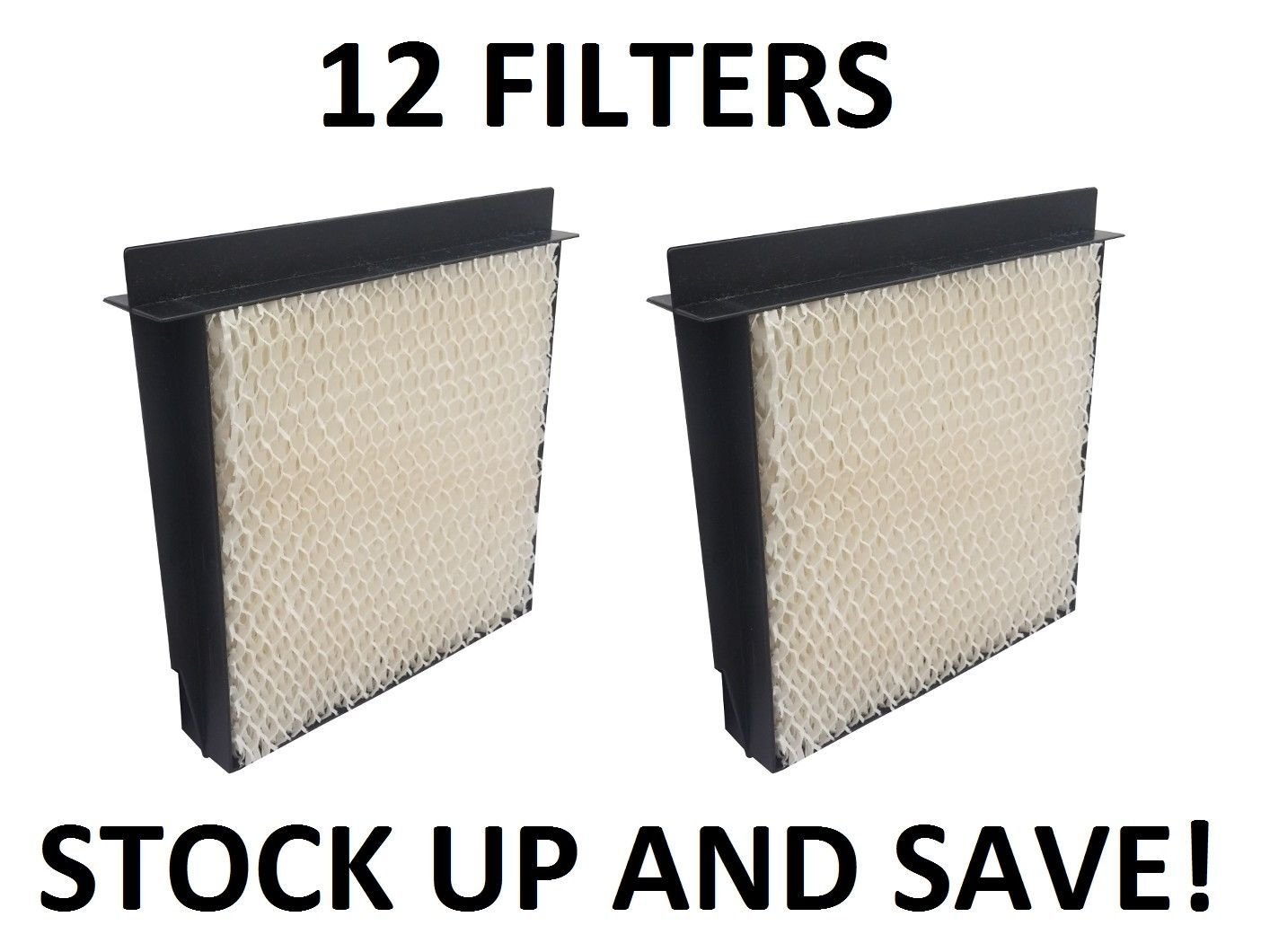 Garden&Park Humidifier Filter for Bemis Essick Air 1040 Super Wick - 12 Pack