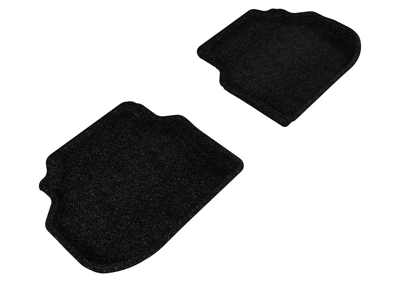 3D MAXpider Front Row Custom Fit Floor Mat for Select Hyundai Elantra Models Black Classic Carpet