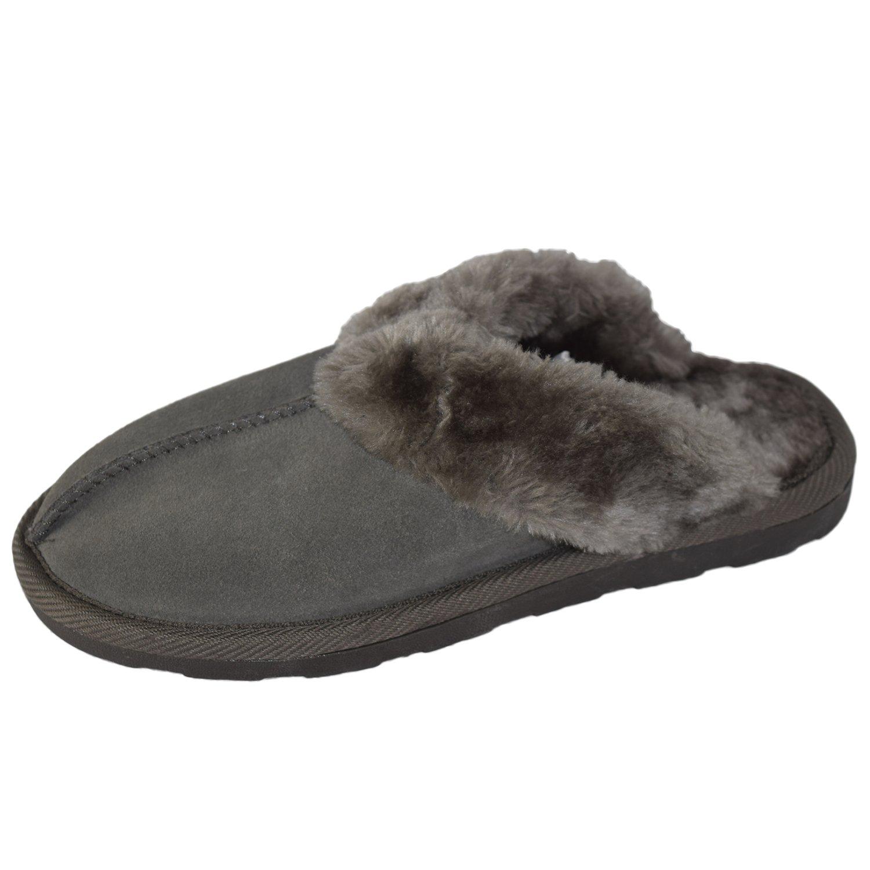 Grey Genuine Suede Chandra Slippers