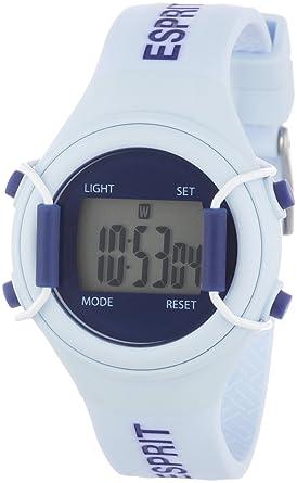 Esprit ES900624005 - Reloj infantil digital con alarma, correa de plástico color blanco