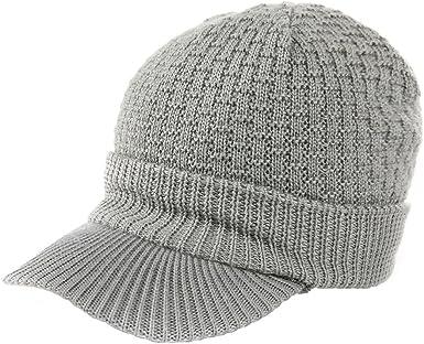 SIGGI - Gorro con visera para invierno, de lana, unisex, multicolor ...