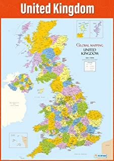 World map poster geography poster for students teachers large uk map poster geography poster for students teachers large map of the uk gumiabroncs Images