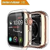 【2個セット】AIGENIU コンパチブル Apple Watch Series 4 44mm ケース、TPU 耐衝撃性 高透光 高感度 アップルウォッチ4 全面保護 スクリーン カバー Apple Watch Series 4 44mm に対応 (44mm)