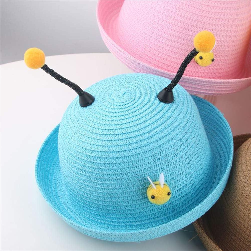 TENDYCOCO Kids Straw hat Sun Hats Summer Beach Hats Outdoor Activities
