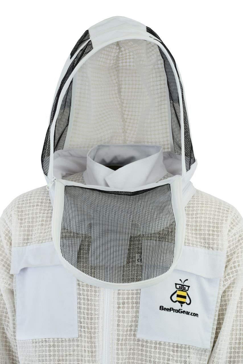 Capa de Seguridad Ultra ventilada de 3 Capas Protecci/ón Unisex Tela Blanca Malla Traje de Apicultura Traje de Apicultor Traje Velo de esgrima SFV