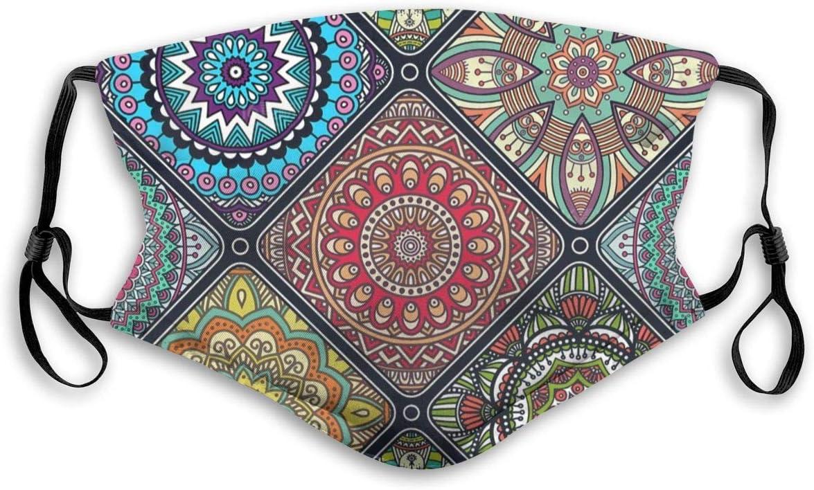 Fillter Face Cloth Clásico Étnico con Junta Cálido Impermeable Boca Protectora A Prueba De Polvo Bucles De Oreja Doble Protección