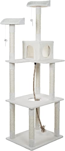 PETMAKER Sleep and Play Cat Toy Tree, 6 , Ivory