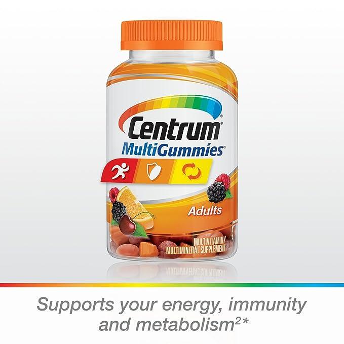 Centrum - MultiGummies para los adultos cereza, baya y naranja naturales - 150Gomitas: Amazon.es: Salud y cuidado personal