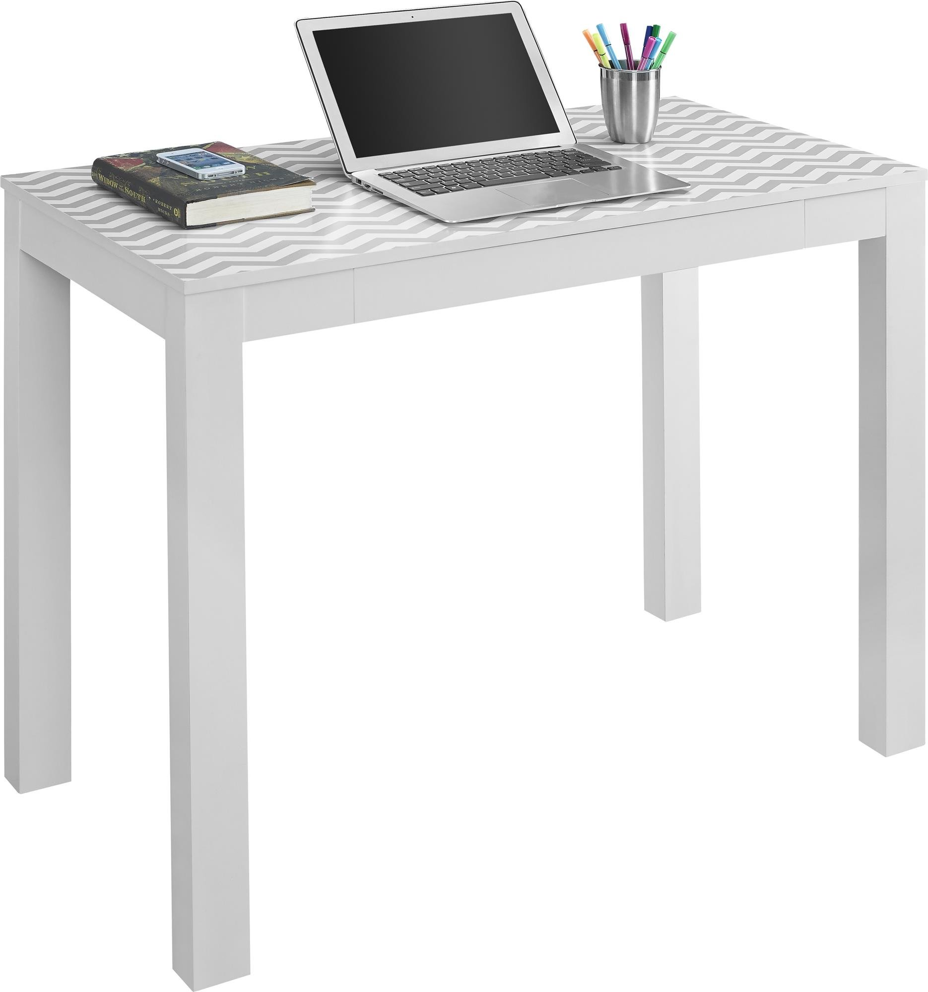 Ameriwood Home Parsons Desk Drawer, White/Gray Chevron by Ameriwood Home (Image #3)