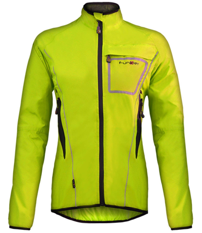 Funkier Women's WJ-1403 Waterproof Cycling Jacket Medium Yellow