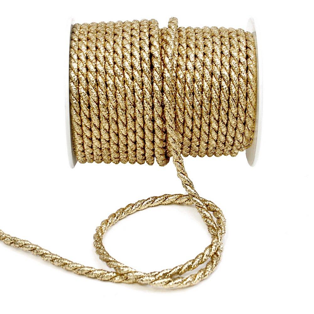 Cordoncino oro, 2mm/4mm/6mm, cordino in Lurex senza filo, gold, Ø 2mm/ 50 Meter basteln-und-deko