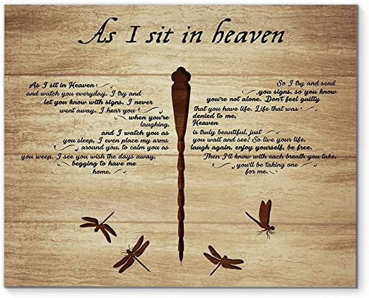 Dragonflies As I Sit In Heaven Satin Landscape Poster