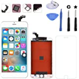 """Replacement LCD Digitizer and Touch Screen LCD Assembly with Tools for iPhone 6 Plus 5.5"""" Inch (for iPhone 6 Plus White)"""
