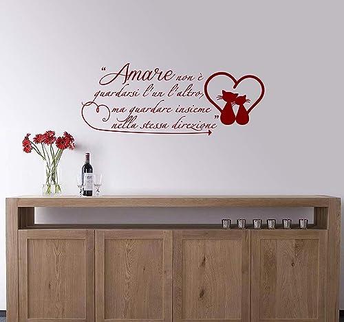 Adesivi Murali Frase Amare Exupéry Amore Decorazioni Da