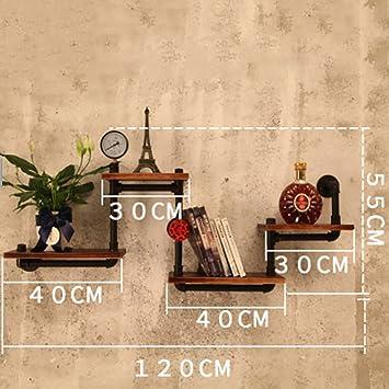Zcczs Etagere De Decoration Murale Loft Etagere Murale Retro