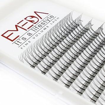 4753a4b5e68 Amazon.com : EMEDA 2 Packs 3D Eyelash Extensions D curl Volume Fans Individual  Cluster Lashes 12/14MM 07 D Curl Eyelash Extensions : Beauty