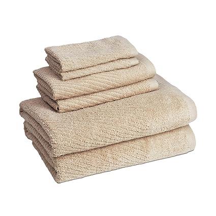 American Dawn Cambridge secado rápido 6 piezas Juego de toallas, lino
