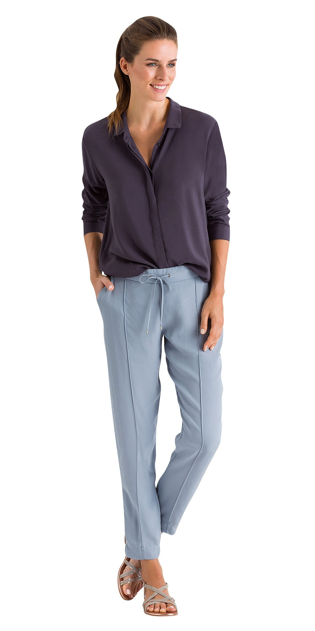 HANRO Women's Favourites Long Sleeve Shirt, Elder, Large
