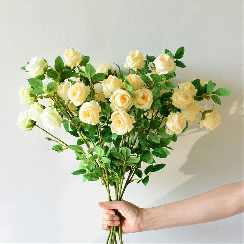 NIBABA Hydrangea Artificial Falso Sola Flor Decoración Idílico Ramo Secado Decoración simulación Flor de Rose Accesorios de decoración de Mesa (Color : F, Size : One Size)