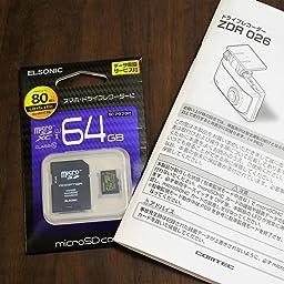 Amazon Co Jp コムテック 前後2カメラ ドライブレコーダー Zdr026 前後370万画素 Wqhdノイズ対策済 夜間画像補正 Led信号対応 専用microsd 16gb 付 1年保証 Sony製cmosセンサー搭載 Gセンサー Gps 19年モデル Comtec Zdr 026 車 バイク