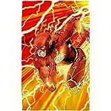 "Lightning Dash -- The Flash -- Justice League -- Bath Towel (27"" x 52"")"